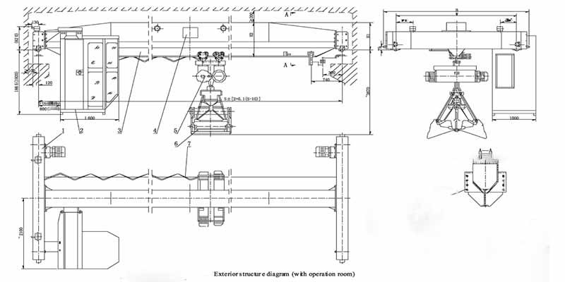 Фото грейферные мостовые краны технические характеристики