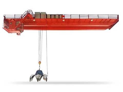 это мостовой грейферный двухбалочный кран