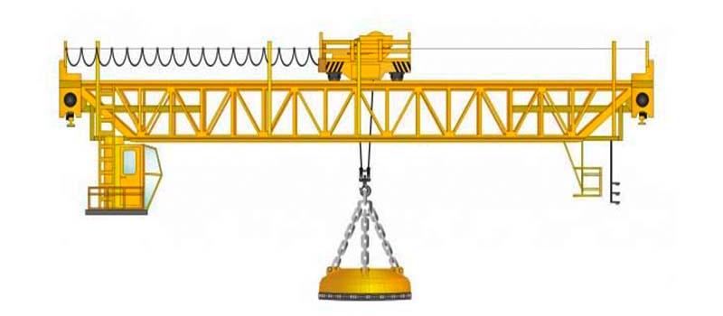 мостовой кран магнитный фото