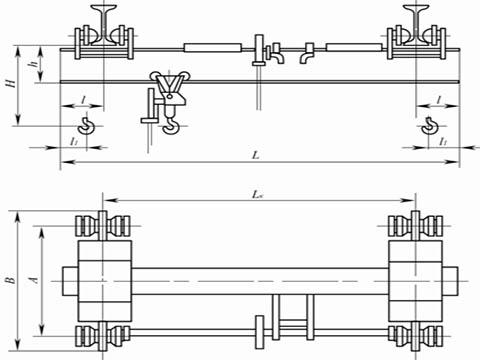 Что схема кран однобалочный опорный и подвесный 1т