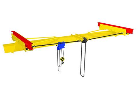 Кран мостовой ручной однобалочный подвесной 2т фото