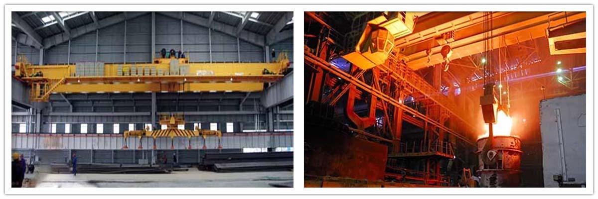 Магнитный и металлургический мостовой кран