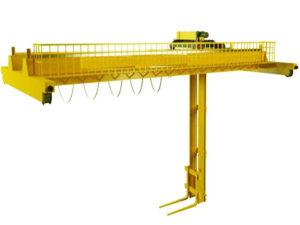 Мостовой кран штабелер фото
