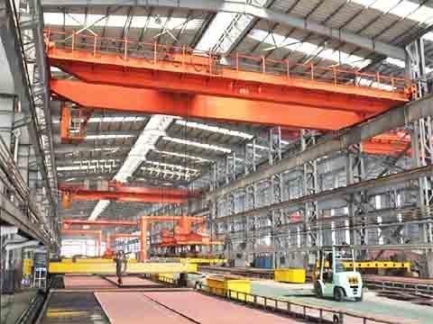 Фото мостовой магнитный кран 32 тонн