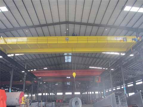 Это европейский двухбалочный мостовой кран 100 тонн