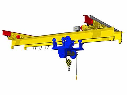 Купить мостовой подвесной двухбалочный кран