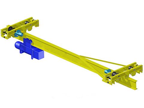 Кран мостовой однобалочный подвесной 2т фото
