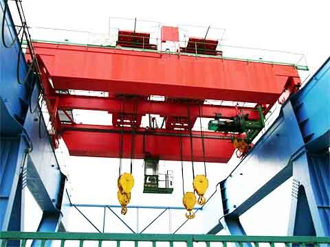 Фото двухбалочный мостовой кран 50 тонн