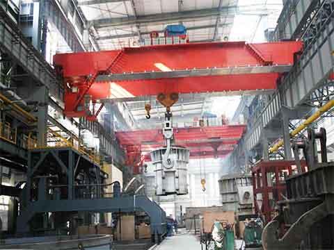 YZ двухбалочный мостовой кран для сталелитейных заводов это