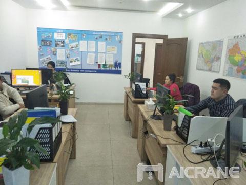 Офис AIMIX в Узбекистане - продать мостовой кран цена