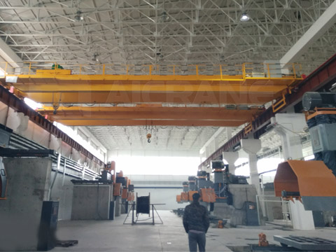 Двухабалочный мостовой кран купил клиет из Узбекистана
