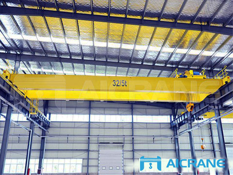 Заказать европейский двухбалочный мостовой кран 32 тонн
